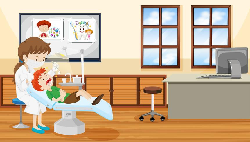 Dentist and child scene - Download Free Vector Art, Stock Graphics & Images