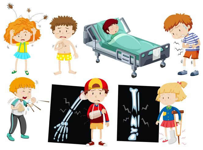 Crianças com doença diferente