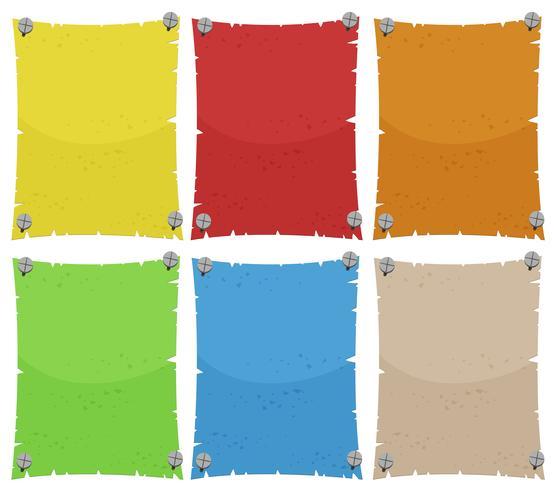 Pappersmall i sex färger
