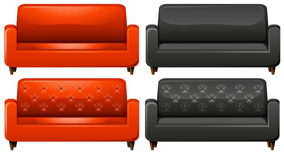 Red and black sofa - Download Free Vector Art, Stock Graphics & Images
