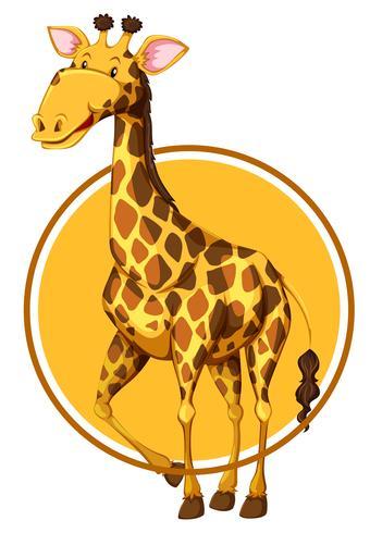 Giraffe auf Kreisfahne