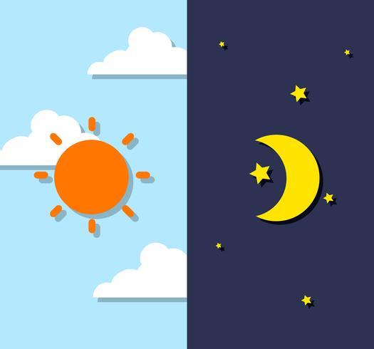 Ciel de jour et de nuit