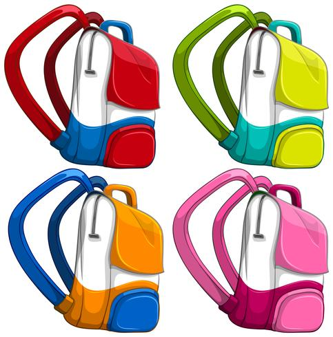 Schultaschen in verschiedenen Farben