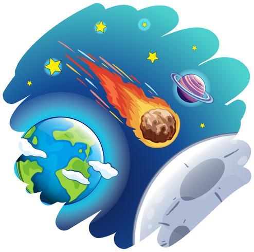 Komet geht durch die Erde