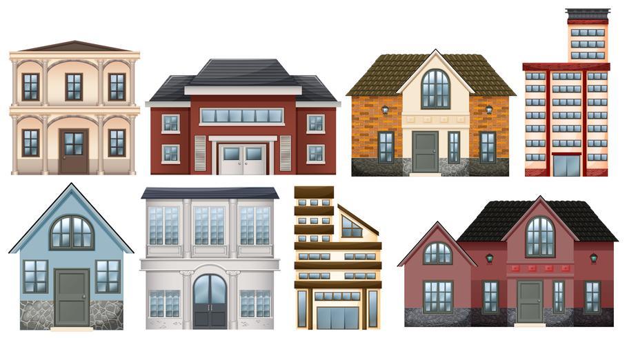 Différents modèles de bâtiments