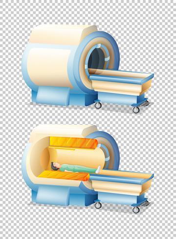Ressonância magnética com e sem paciente