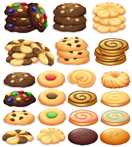 Different kind of cookies vector