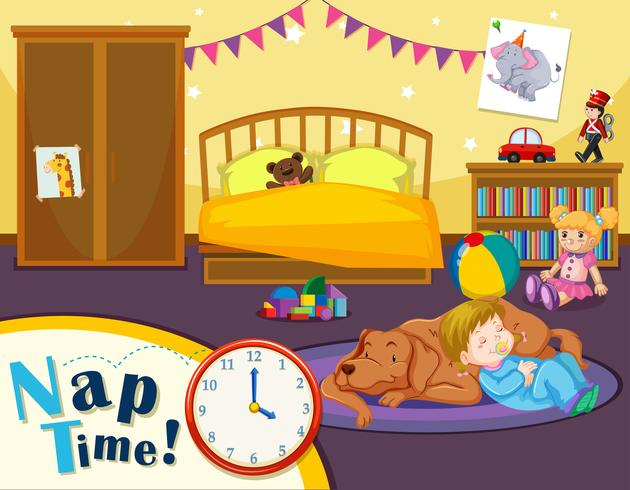 Hora de la siesta de niños pequeños
