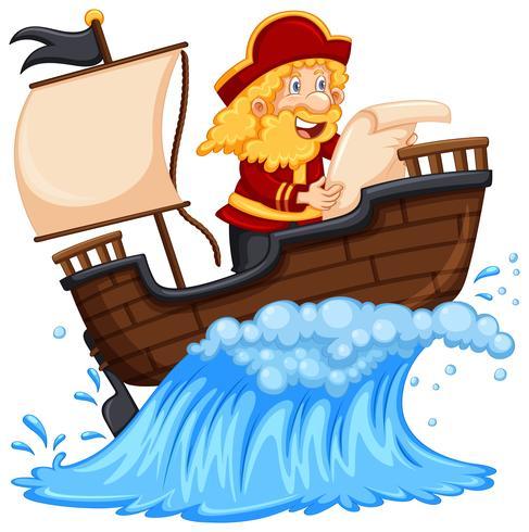 Pirat, der den Ozean erforscht