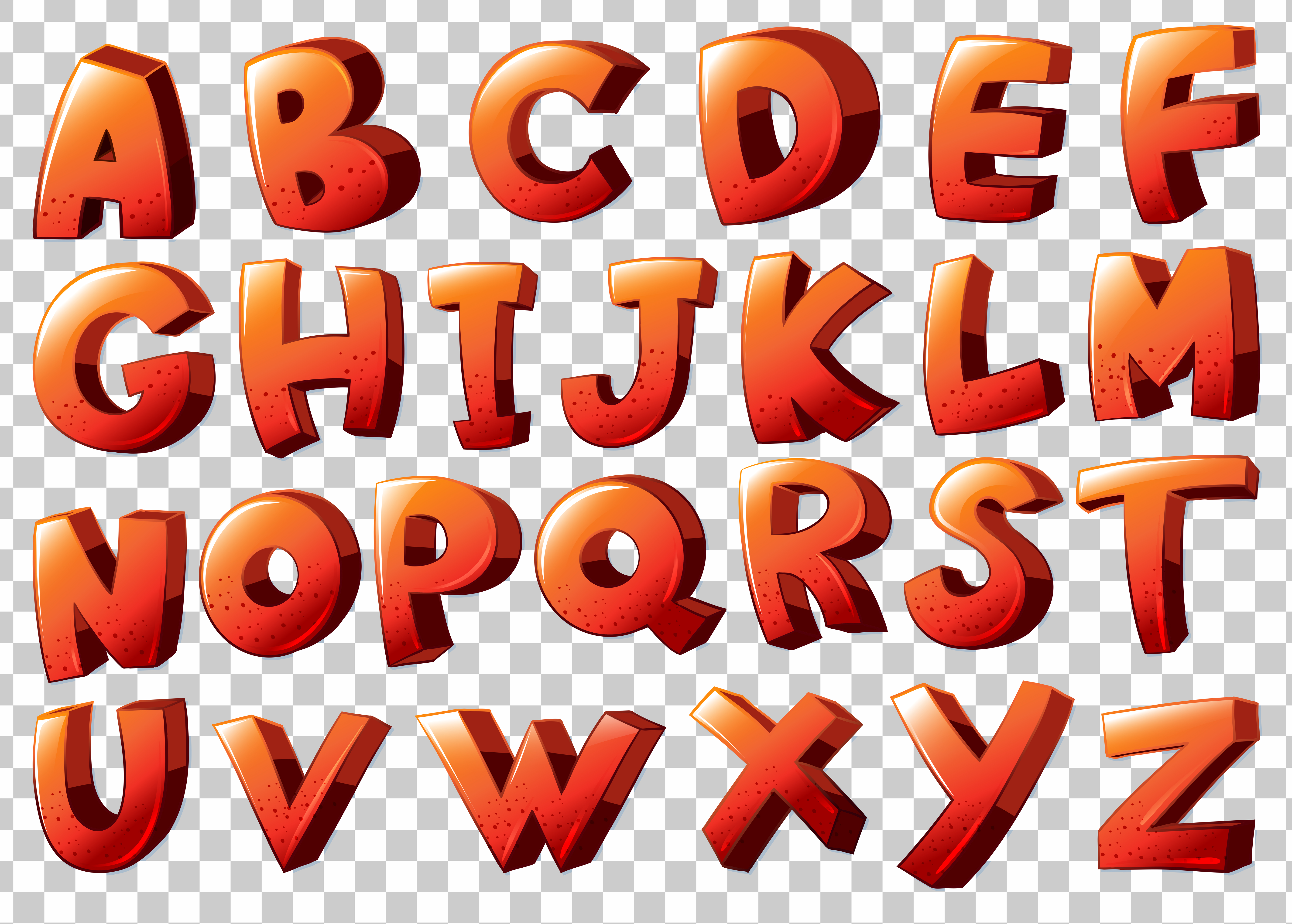 vector-alphabet-artwork-in-orange-color T Scrabble Letter Template on collage invitation, tile coasters blank, how stencil large wall, letter for wall art, word finder, block letter,