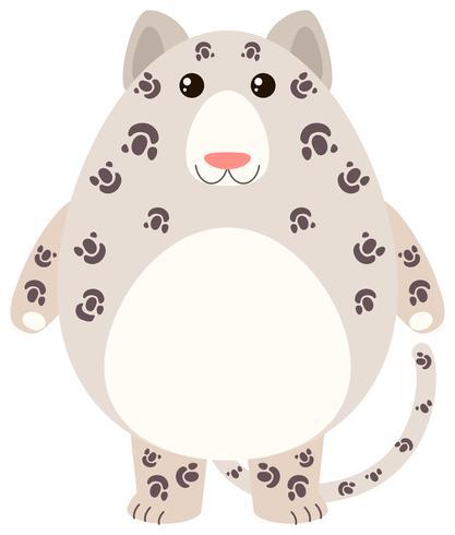 Leopard mit glücklichem Gesicht