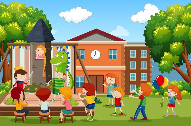 A children play scene