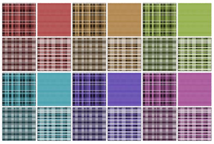 Conjunto de patches de padrão diferentes