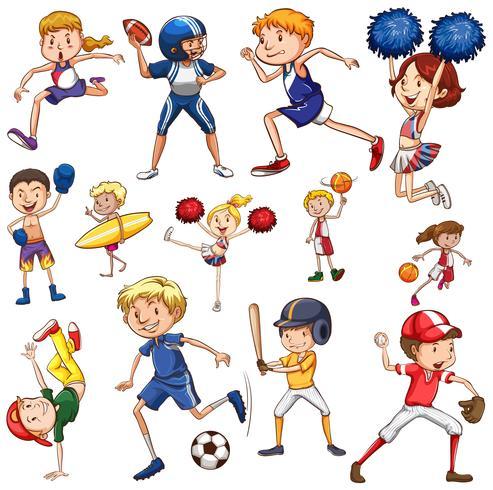 Conjunto de personaje atleta