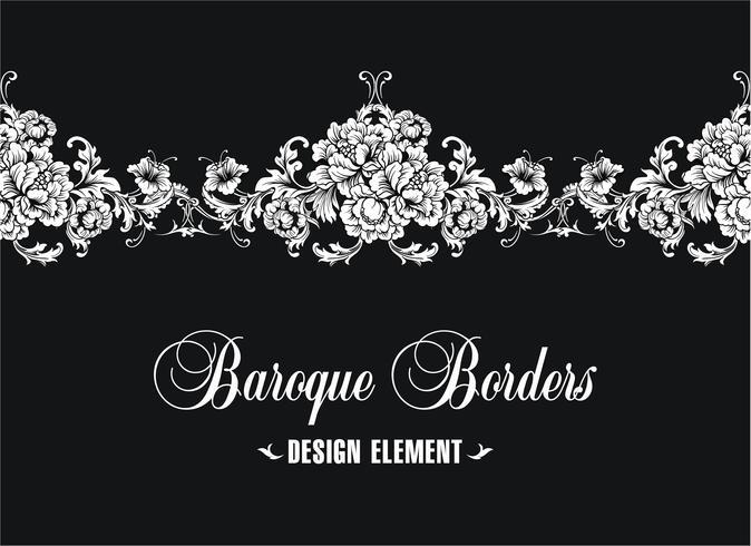 Bordure ornementale, cadre. Modèle baroque. Vecteur sans couture