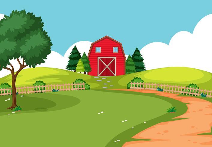 Uma paisagem de fazenda ao ar livre