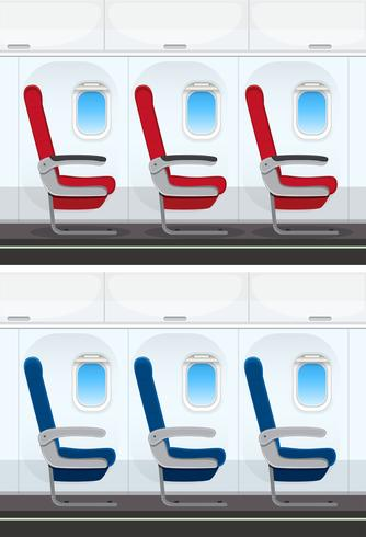 Conjunto de layout do assento de avião