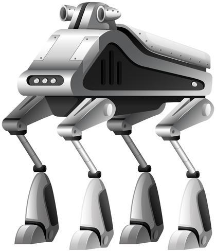 Um robô moderno em fundo branco