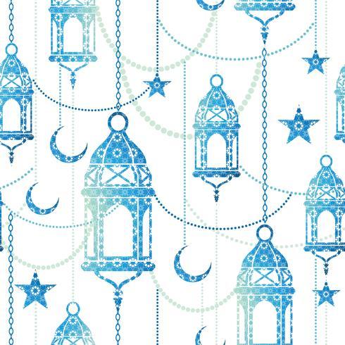 Ramadán de fondo. Vector sin patrón