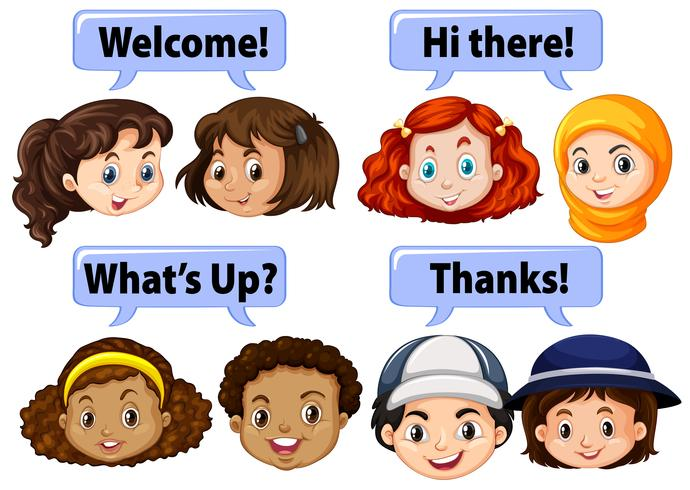 Kinderen die beleefde woorden zeggen