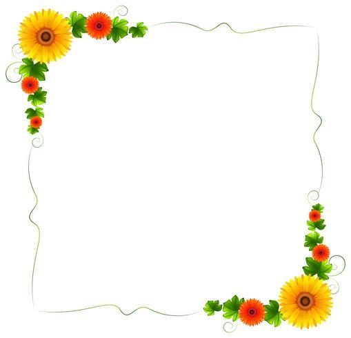 Une bordure florale colorée