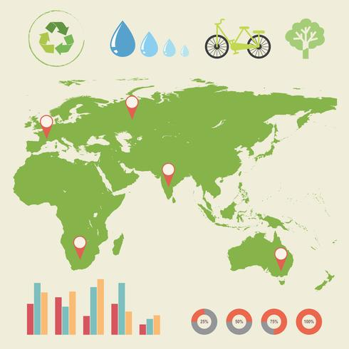 En infographics med en karta