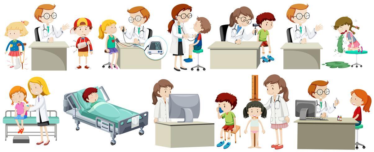 Un conjunto de doctor y niño