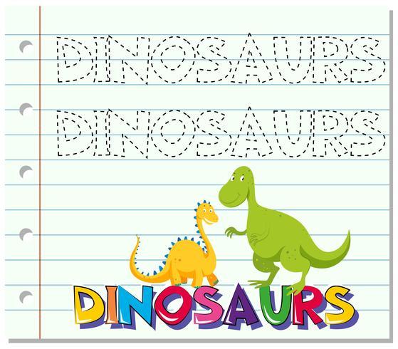 Tracciare la parola per i dinosauri