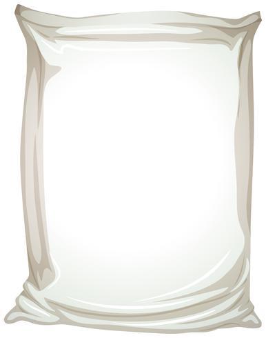 Un emballage plastique sur fond blanc