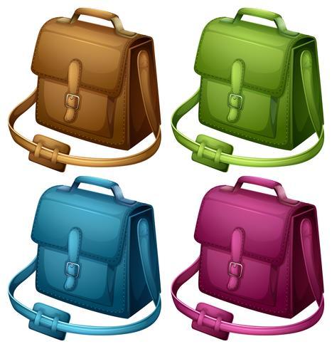 Quattro borse colorate