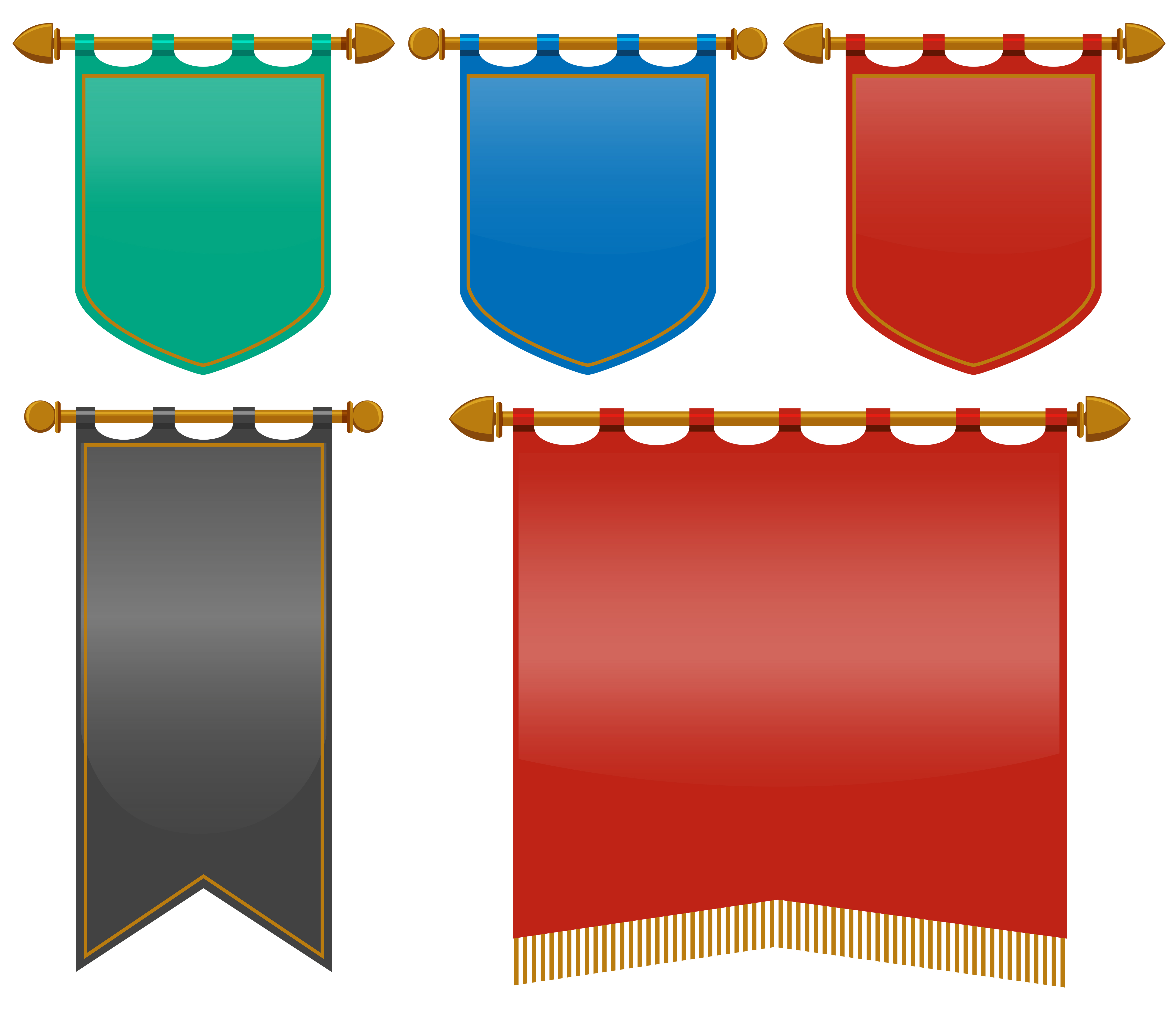 Triangle Road Signs >> Medieval flags in different colors - Download Free Vector ...
