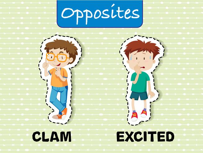 Opposite words for calm and excited - Download Free Vector Art, Stock Graphics & Images
