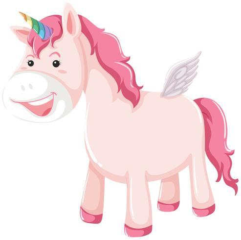 A pink unicorn character