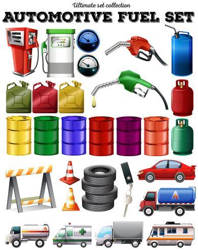 Diferentes transportes y gasolina.