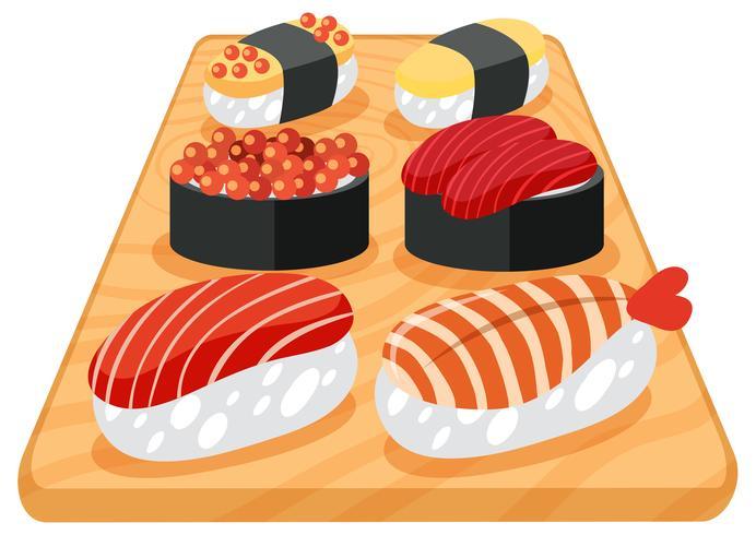Un juego de sushi japonés