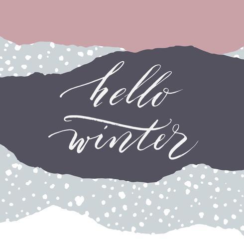 Winter illustration. Vector design for card, poster, flyer, web