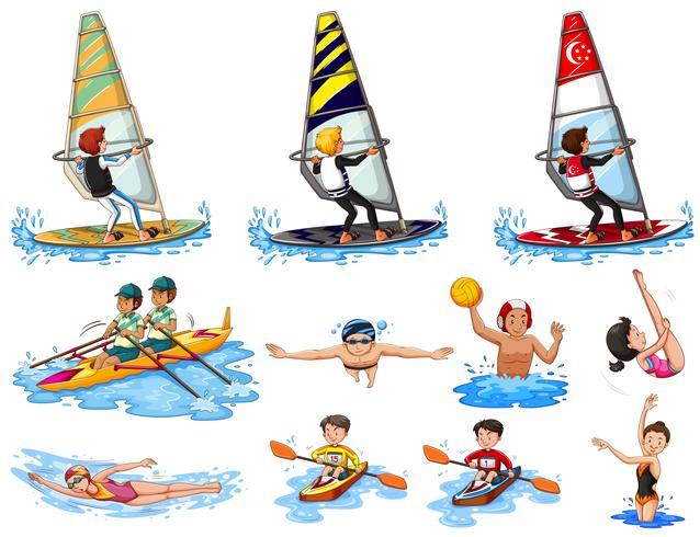 Sats med vattensporter