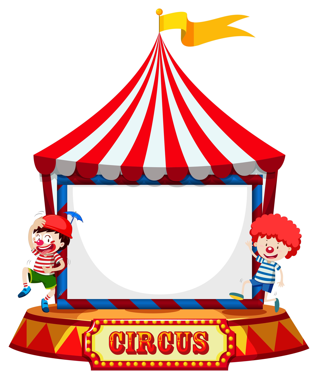 Carpa De Circo Con Marco De Payasos.