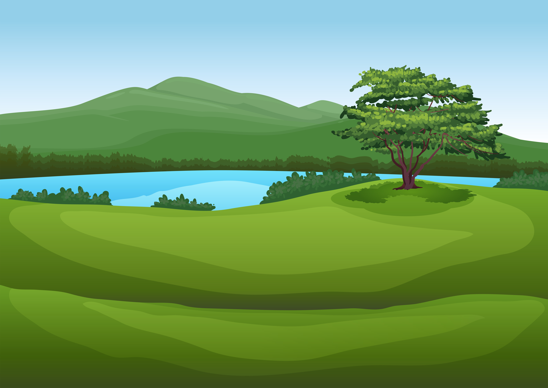 Forest Landscape Drawing