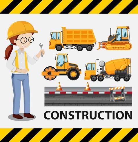 Conjunto de construcción con ilustración de personaje femenino.