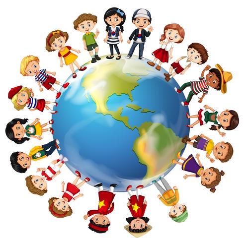Niños de muchos países alrededor del mundo.