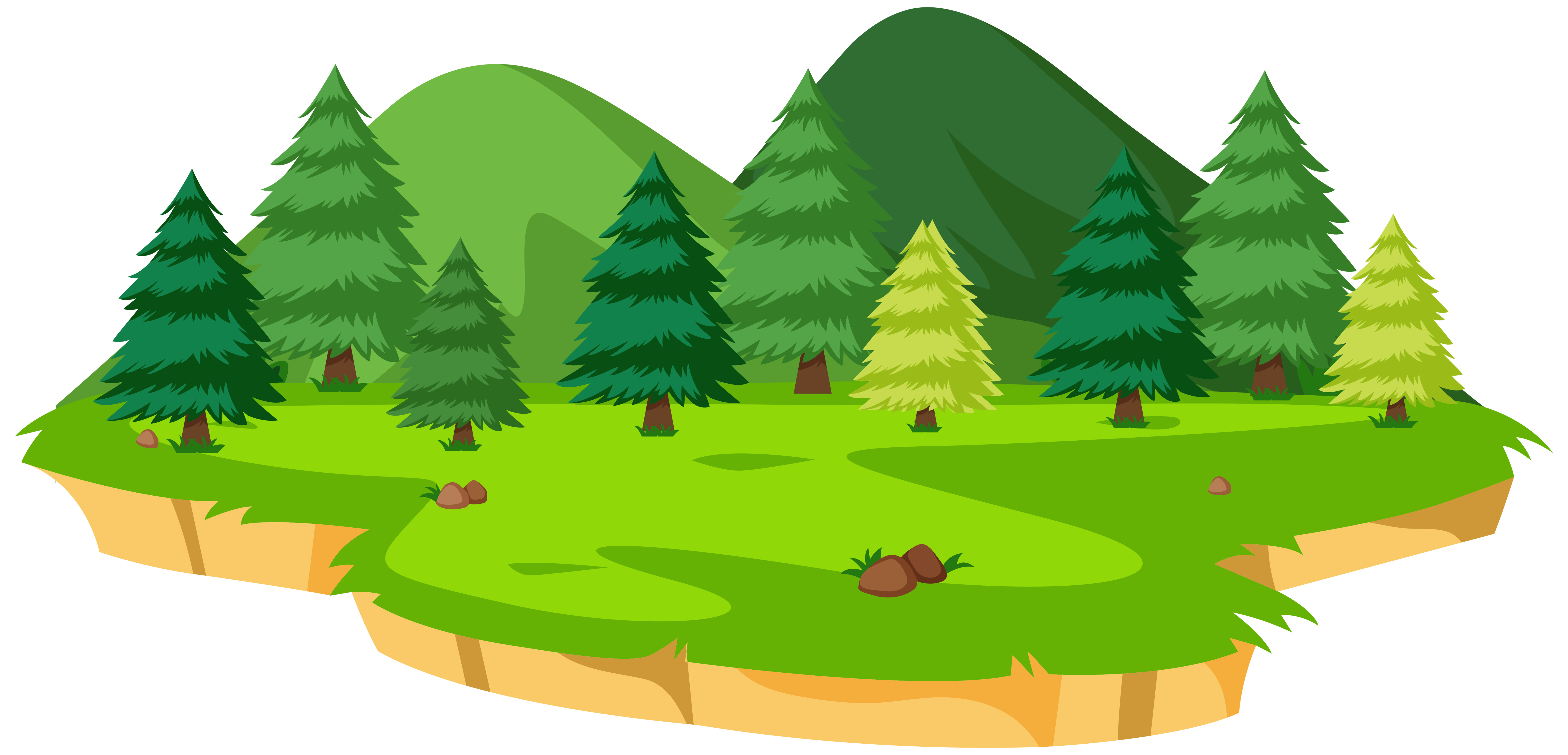 Isolated natural island background - Download Free Vectors ...