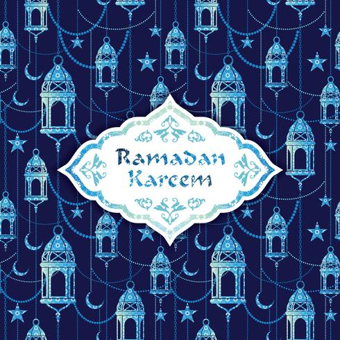 Ramadan Kareem. Vektor illustration.