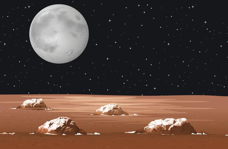 Scène met planeet in de Melkweg