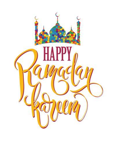 Ramadan Kareem. Lettering design. vector