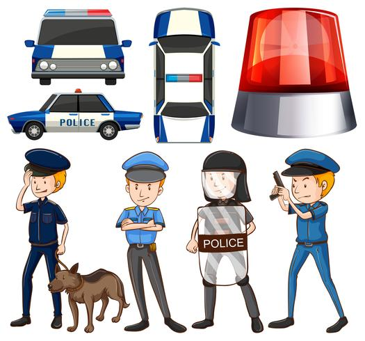 Poliziotto e auto della polizia