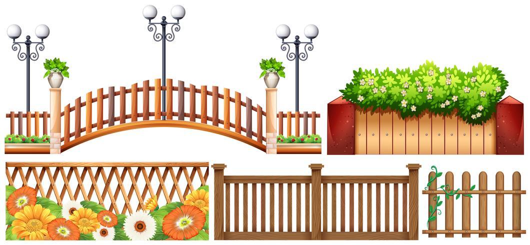 Conception différente des clôtures vecteur
