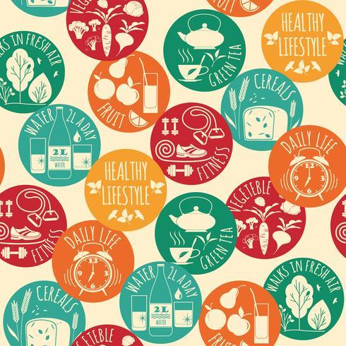 Fondo transparente estilo de vida saludable vector
