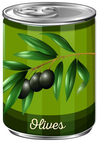 Une boîte d'olive noire