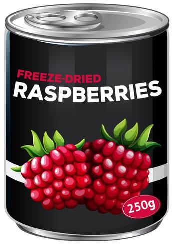 A Can of Freeze-Dried Raspberries